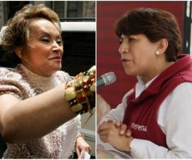 Delfina Gómez y Elba Esther Gordillo