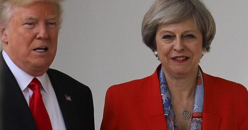Theresa May confrontará a Trump sobre filtraciones del atentado terrorista en Manchester