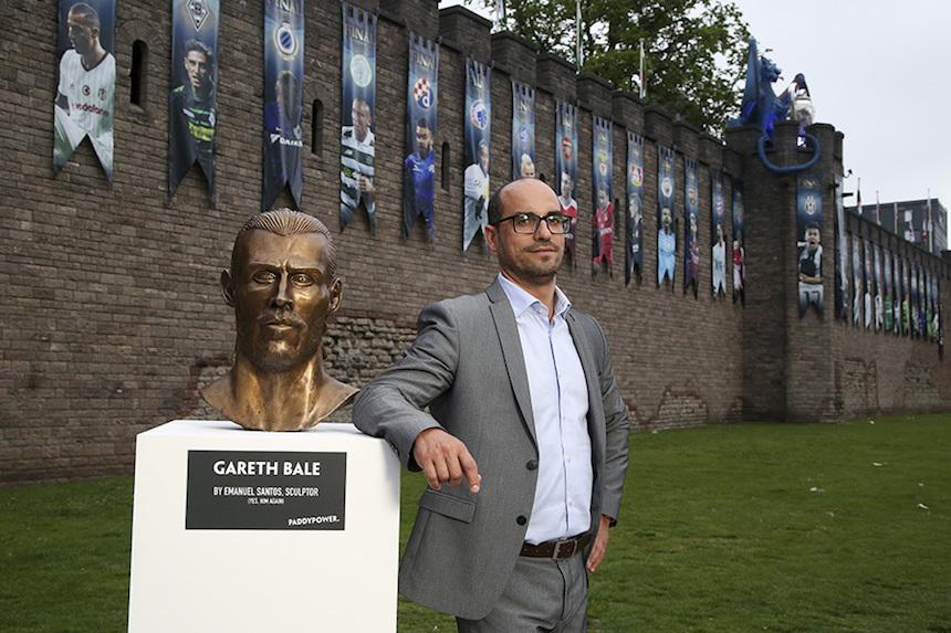 Escultura de Gareth Bale