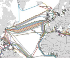 Mapa de cables submarinos