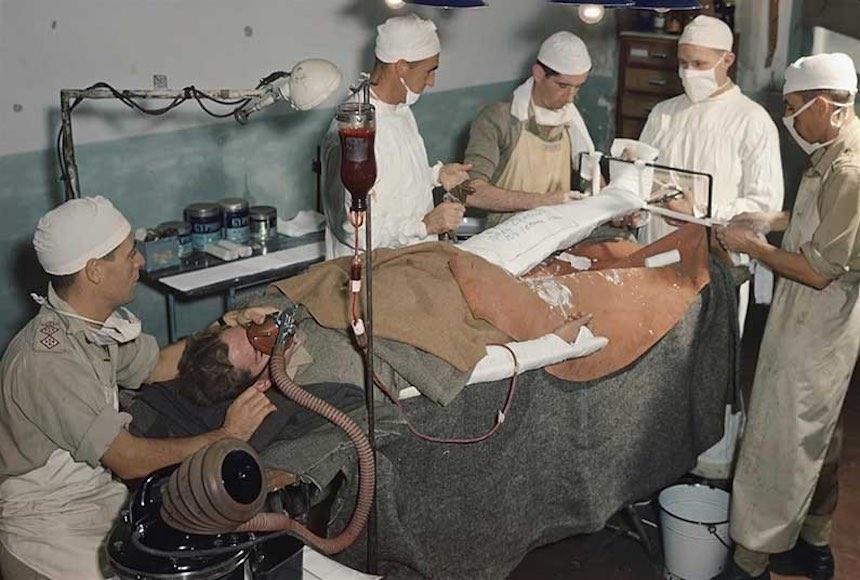 Segunda Guerra Mundial - Herido en combate
