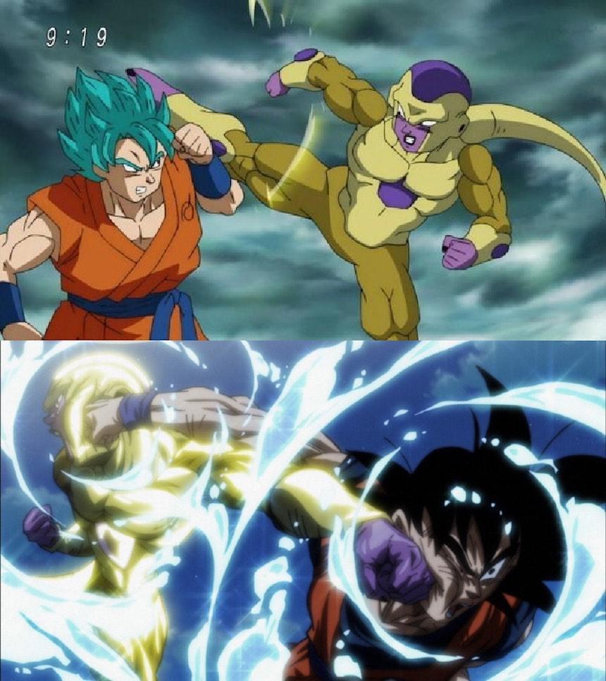 Dragon Ball Super Comparación
