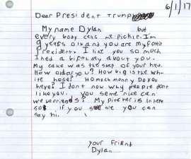 Carta que niño de 9 años envió a Trump
