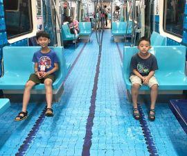 Taiwán - Decoración en el metro