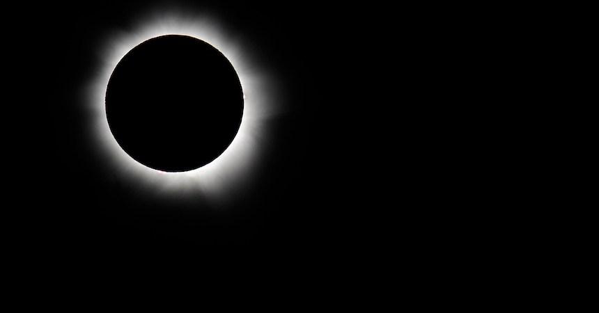 Eclipse solar visto desde Estados Unidos