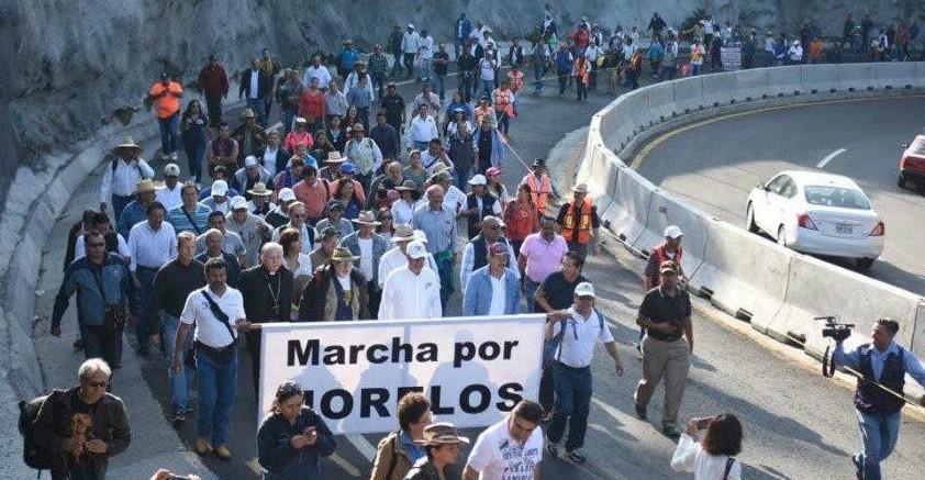 Frente Amplio Morelense en la Marcha Por Morelos