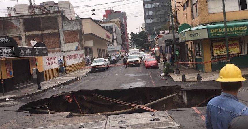 Socavones en la Ciudad de México