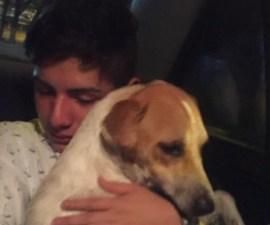 El joven en Veracruz que adoptó un perrito al salir de un antro