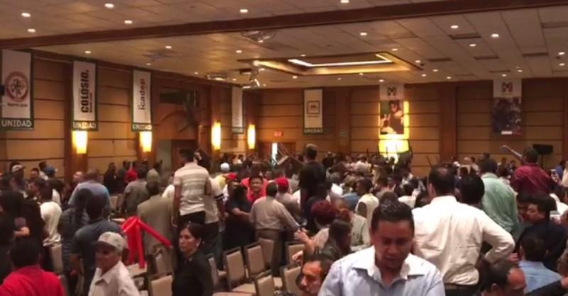 Pelea entre priistas de Nuevo León