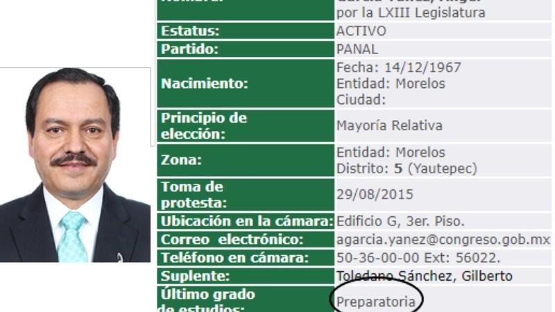 Diputado del Panal Ángel García