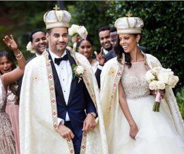La boda de una mujer y el príncipe de Etiopía