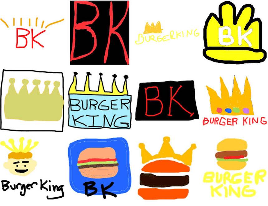 Burger King - Dibujos de los logos