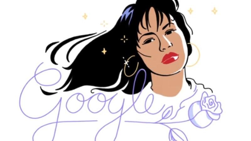 Doodle dedicado a Selena