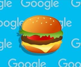 Hamburguesa con queso - Emoji de Google