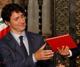Justin Trudeau, primer ministro de Canadá, asistió al Senado de la República