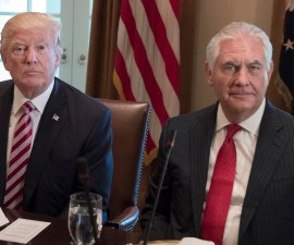 Rex Tillerson y Donald Trump debaten sobre su coeficiente intelectual