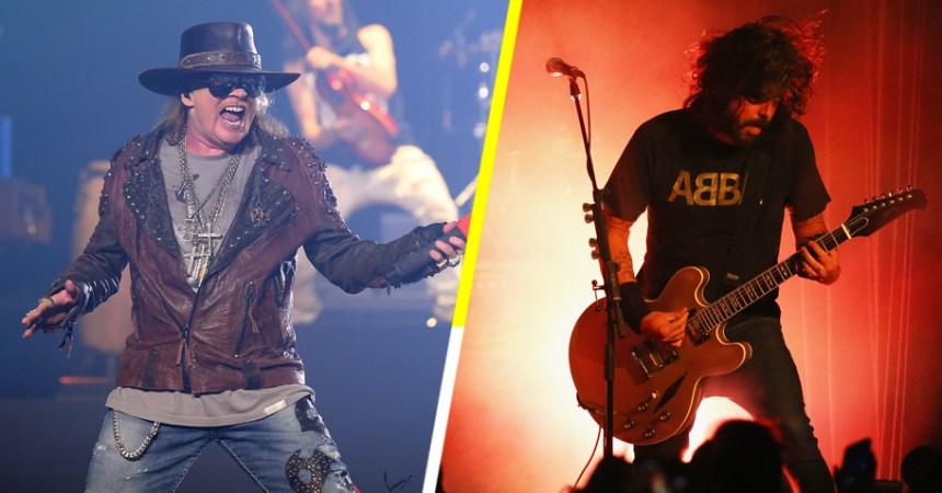 Mira a Dave Ghrol echándose un palomazo con Guns N' Roses