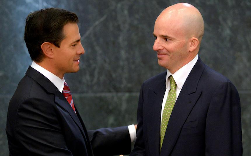 Presidente Enrique Peña Nieto y José Antonio González Anaya, nuevo titular de la Secretaría de Hacienda