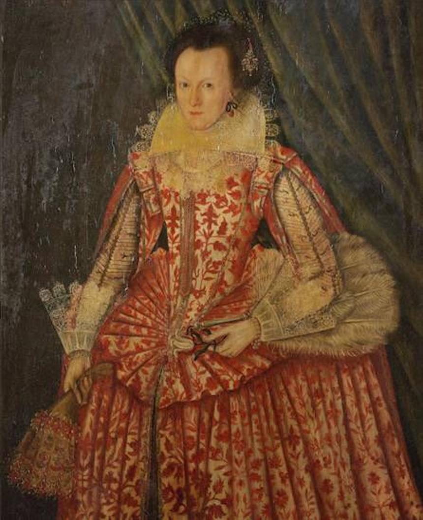 Mujer de Rojo - Pintura restaurada por Philip Mould