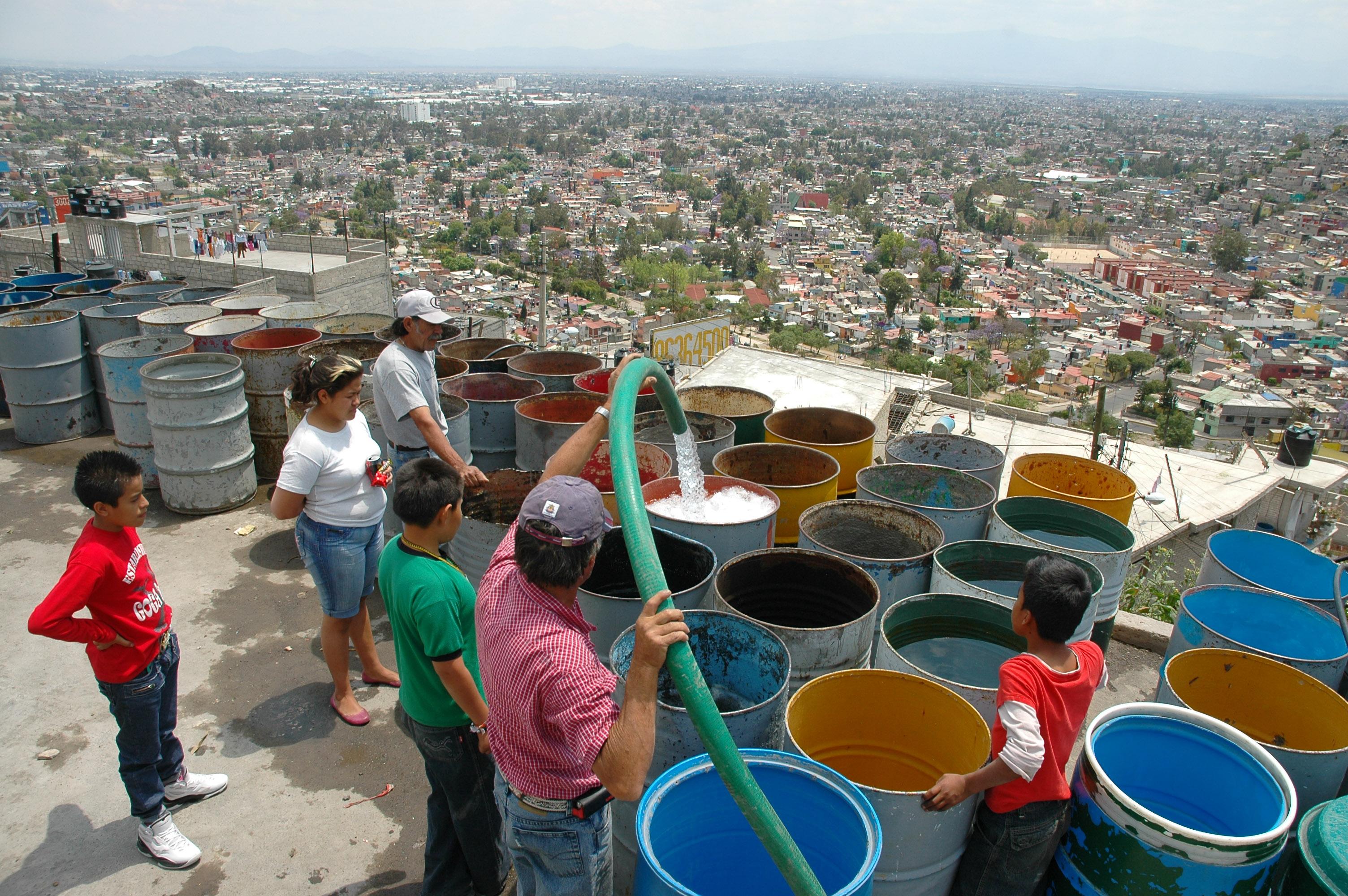 falta de agua en la Ciudad de México