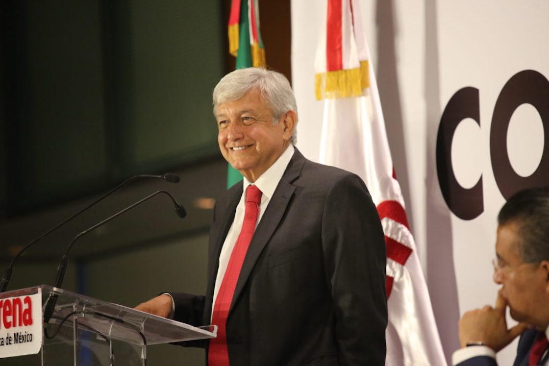 Andrés Manuel López Obrador, candidato de Morena a la Presidencia
