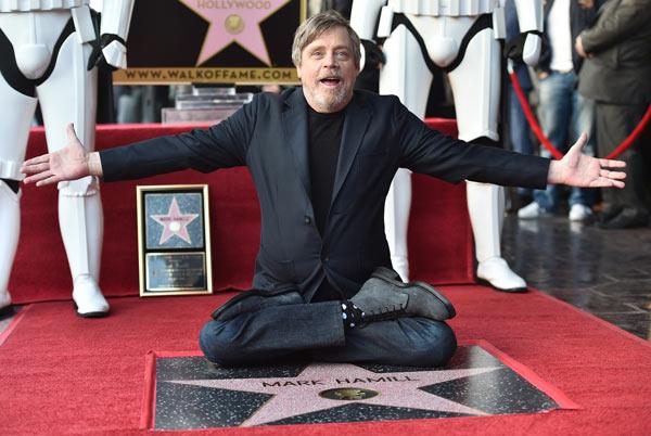 mark hamill recibe su estrella en el paseo de la fama