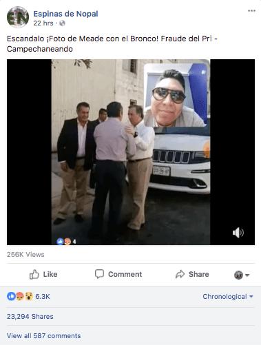 Meade El Bronco falsa reunión