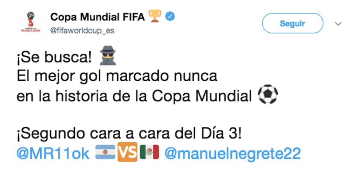 Mejor gol en Mundiales
