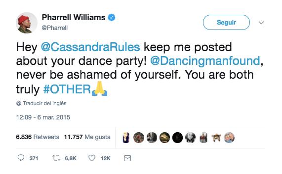 Pharrell Williams quiere ir a una fiesta con un chico después de ser cyber-bulleado