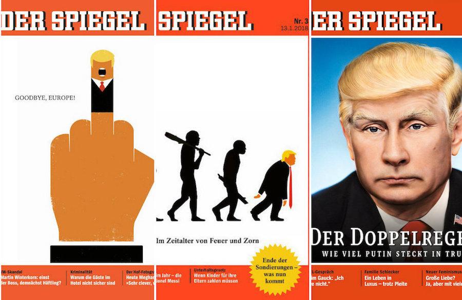 #AdiósEuropa Der Spiegel regresó con otro clásico de Donald Trump