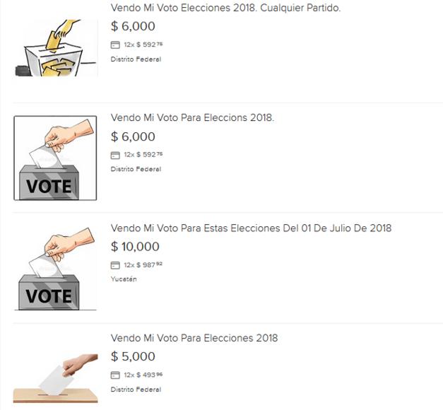 venta voto mercado libre elecciones en México