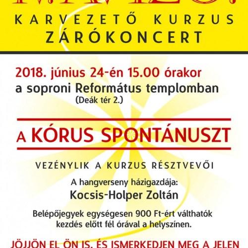 Szavazni is lehet a Kórus Spontánusz évadzáró koncertjén