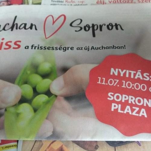 Szerda délelőtt nyit a soproni Auchan