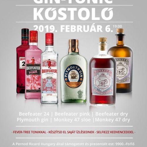 Gin-Tonic Kóstoló