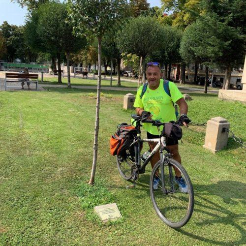 Sopronban lopták el Zelei József kerékpáros békenagykövet kerékpárját