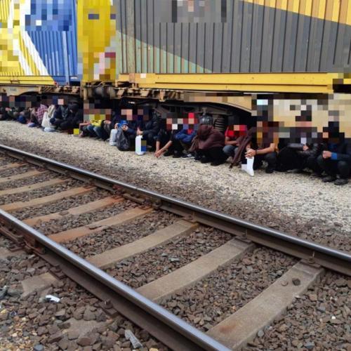 Bujkáló afgán állampolgárokat talált a rendőrkutya a soproni vasútállomás tehervagonjában