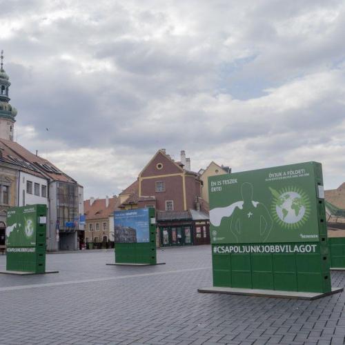 A fenntartható fejlődést népszerűsíti a Soproni installációja