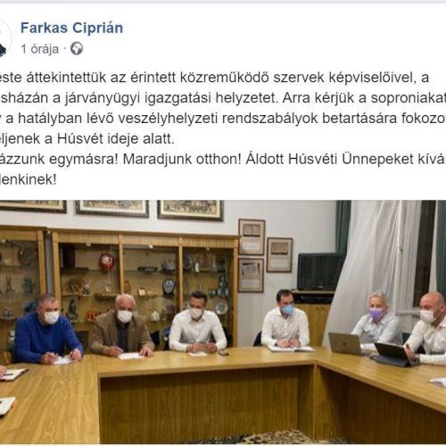 A soproni városvezetés is döntött a kijárási korlátozás önkormányzati hatáskörében