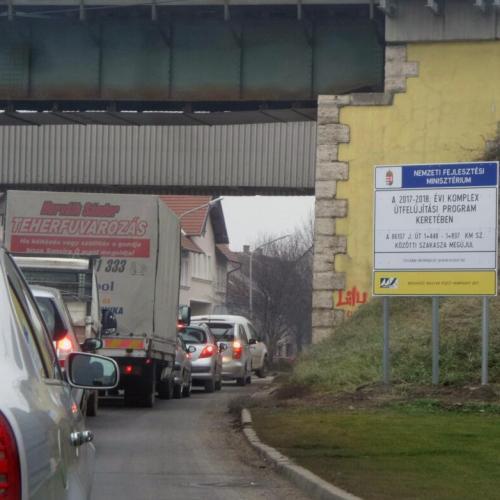 Folyamatban a Csengery utca Kőszegi út és a vasúti felüljáró közötti szakaszának megújítása Sopronban!
