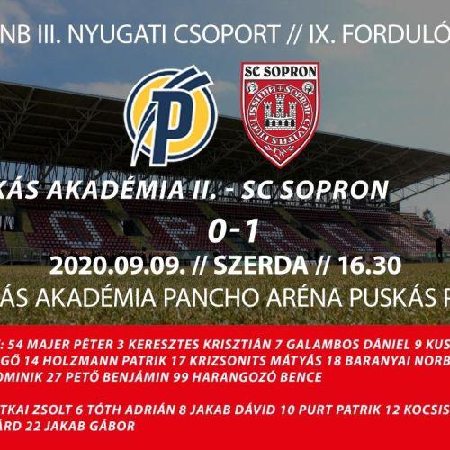 SC. Sopron: Győzelem Felcsúton