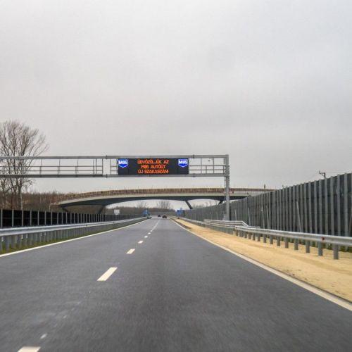 Megindult a forgalom az M85-ös Sopronig tartó szakaszán / VIDEÓ