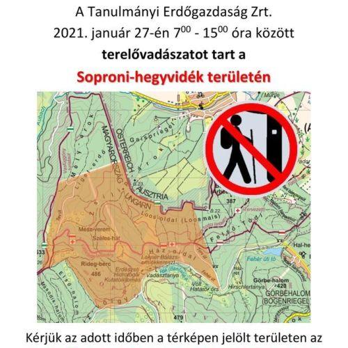 2021. február 27-én két soproni helyszínen is terelővadászatot tartanak!