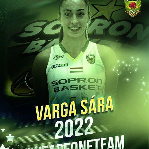 Tovább építkezik a Sopron Basket: Varga Sára is hosszabbított!