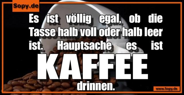 Kaffee drinnen