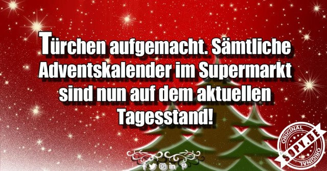 Adventskalender im Supermarkt