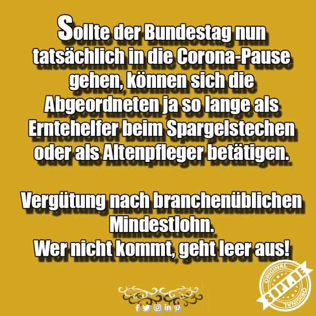 Corona Pause Bundestag