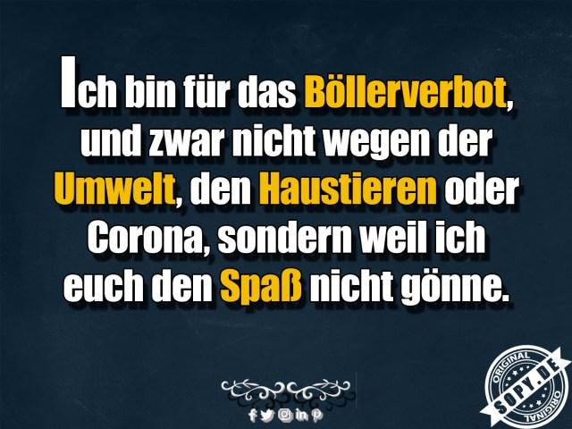 lustige Böllerverbot, Sprüche & Spruchbilder zum teilen - Sopy