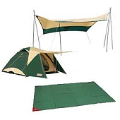 ゆったり広々!テント&タープセットライト