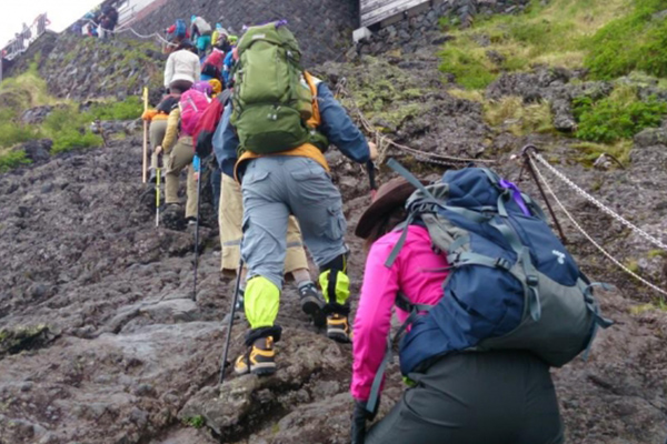 Four climbing routes of Mt. Fuji and its features
