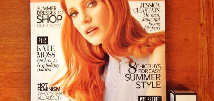 InStyle magazine and Nails Inc. Jessica Chastain